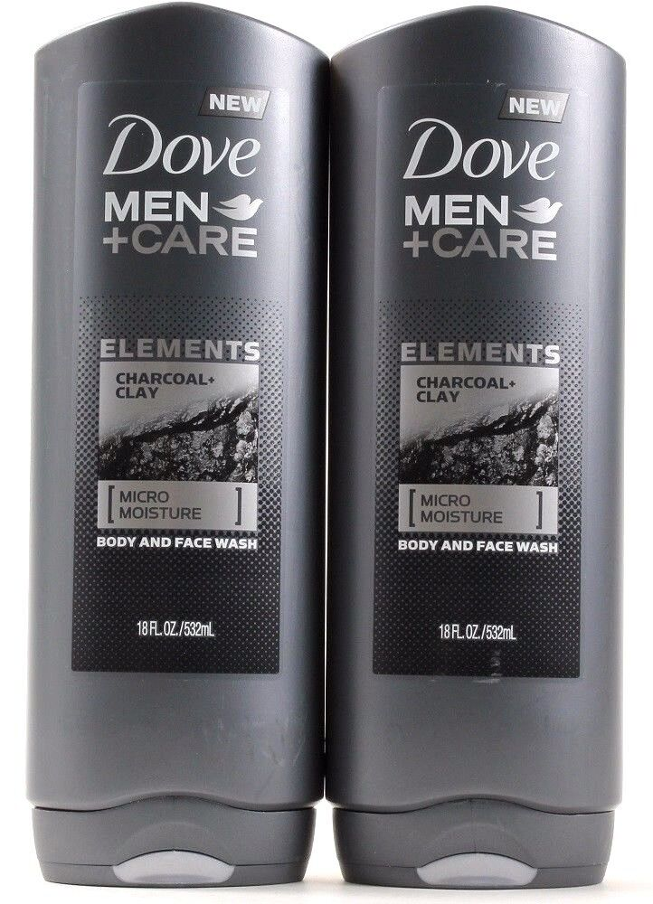 Dove Men+Care Elements Body and Face Wash, Charcoal and Clay
