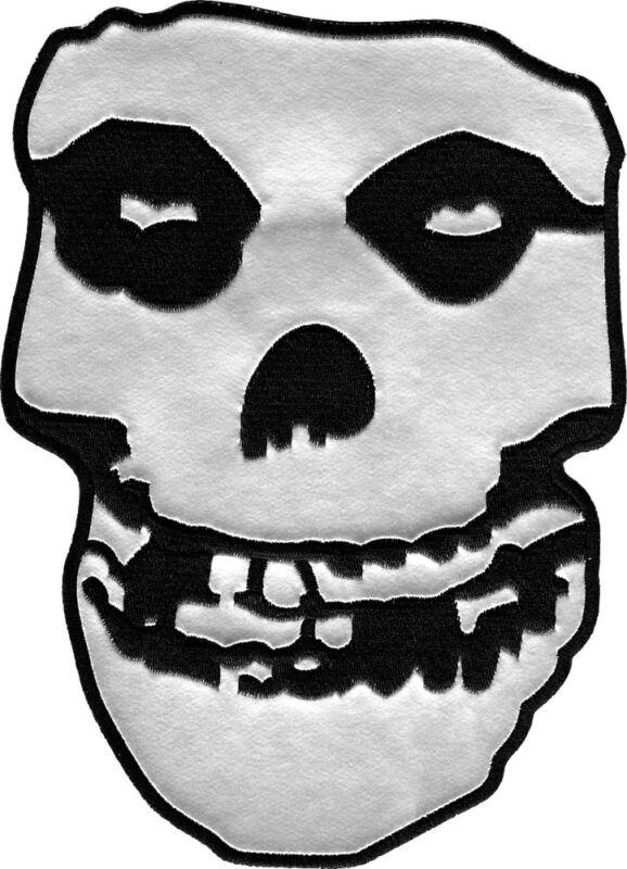 Back Patch - Misfits Silver Crimson Ghost Skull Punk Rock HUGE Iron On New 45010