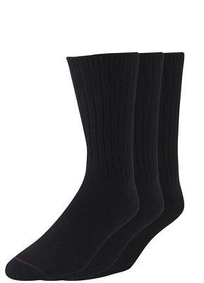 Jockey Mens Staycool Casual Ribbed Crew 3 Pack Socks Casual Socks cotton (Crew Ribbed Crew Socks)