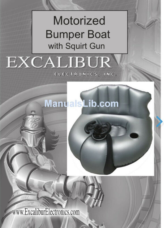 Excalibar Motorized Bumper Boat  With  Squirt Gun!