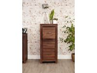 Solid Walnut Large Filing Cabinet NEW