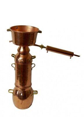 CopperGarden® Alquitara Plus ❀ 10 Liter ❀ Spezial Destille für ätherische Öle