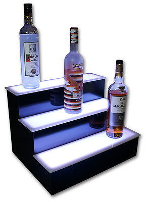 22 3 Step Tier Led Lighted Shelves Illuminated Liquor Bottle Bar Display Stand