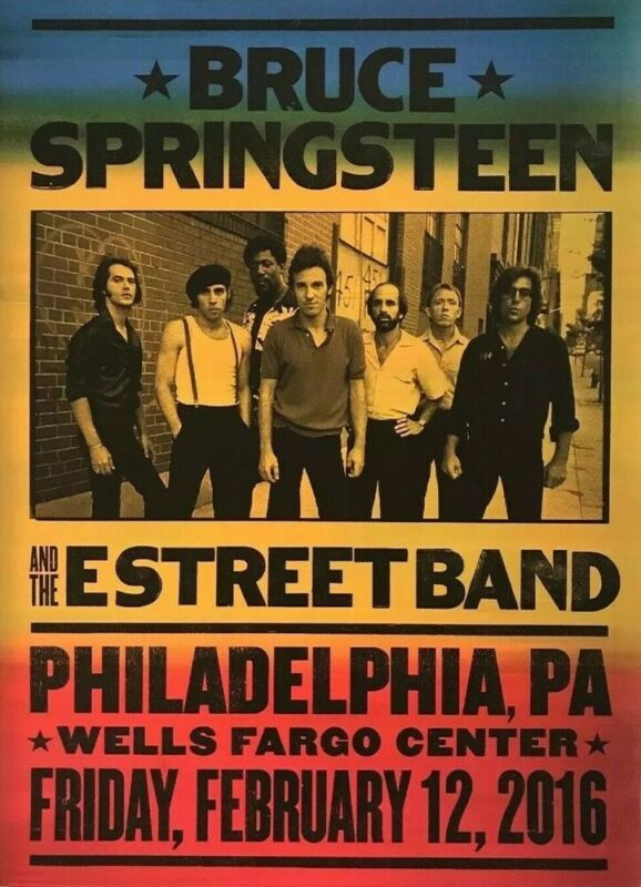 OUT OF PRINT RARE SPRINGSTEEN Philadelphia 2016 RIVER TOUR POSTER