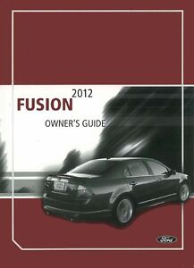 2012 ford fusion owners manual ebay. Black Bedroom Furniture Sets. Home Design Ideas