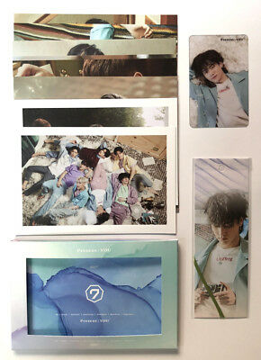 GOT7 KPOP [PRESENT : YOU] Official Present Card Set + Bookmark + Clear Photocard