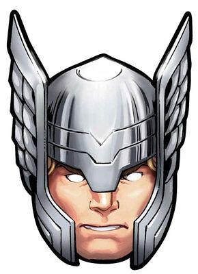 Thor - Marvel Maske - hochwertiger Glanzkarton mit Augenlöchern