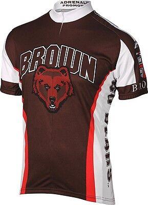 Mens (SMALL) Brown University Brown Bears Adrenaline Cycling Biking Jersey  Shirt e90fd40e6