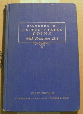 Handbook of United States Coins Blue Book 1942 1st Edition