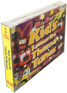 Kids Favourite Film & TV Themes 2CDs  childrens, disney, kids tv *NEW & WRAPPED*
