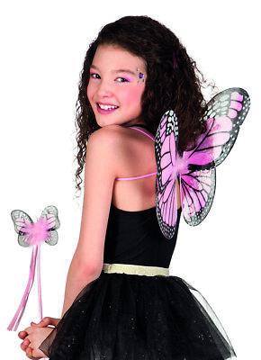 Schmetterling Set Flügel und Zauberstab Kinder Tiere Kostüm - Schmetterling Flügel Kostüme Kinder