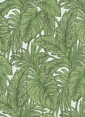 Erismann Green Palm Leaf Glitter Wallpaper White Floral Paste The Wall Vinyl