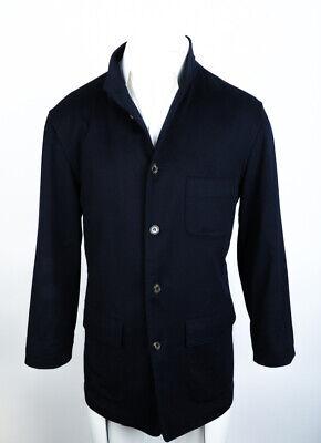 LORO PIANA 100% Cashmere Unstructured Jacket Coat Unlined Button Navy Blue 52 EU
