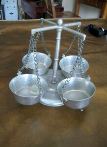 Hammered Aluminium Lazy Susan - Condiment Server - Turns Kitchener / Waterloo Kitchener Area image 2
