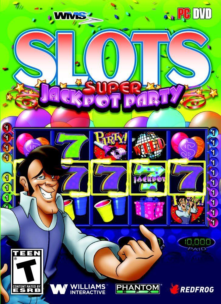 Computer Games - WMS Slots Super Jackpot Party PC Games Windows 10 8 7 XP Computer machine NEW
