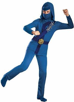 New Shadow Ninjas Night Fury Blue Thunder Ninja Child Costume XS 3-4 - Night Fury Costume
