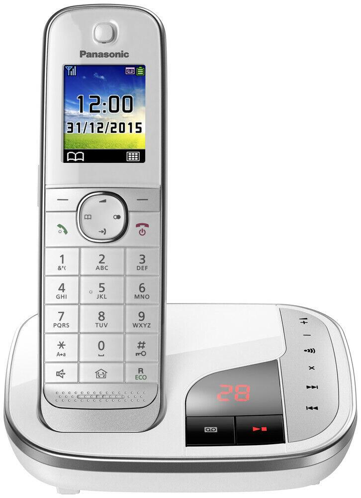 Panasonic KX-TGJ 320 GW in weiß Schnurloses DECT-Telefon mit Babyphone-Funktion