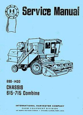 International 615 715 Combine Chassis Service Manual Ih