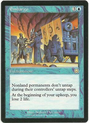 Magic the Gathering x4 EMBARGO Mercadian Masques Blue Rare Enchantment NM