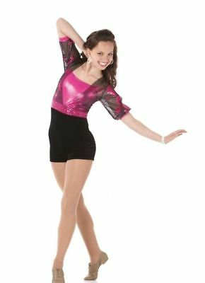 Happy Dance Tap Costume Biketard Unitard Shrug Clearance Child XL 6x7 & Adult XL