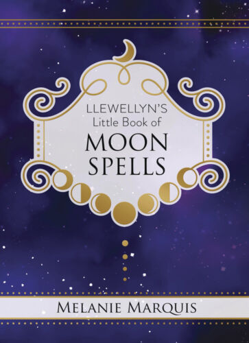 LITTLE BOOK OF MOON SPELLS Lunar Magic Pagan Moon Wicca Witch Craft Hardcover