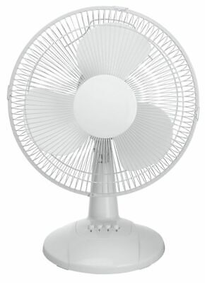 BRAND NEW WHITE TABLE FAN 3 Speeds Oscillation,Work And Home Air Circulation
