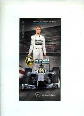Nico Rosberg Mercedes F1 2013 Official Team Issued Card