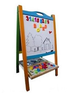 NEW Elk  Bear Double Sided Wooden Magnetic Whiteboard Painting Easel for Small Kids  Toddlers Non Toxic Eco Friendly ...