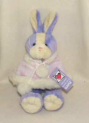 Plush Easter Bunny With Poncho From Ganz Available Pink Or Purple (he8646)