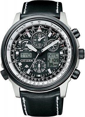 CITIZEN watch PROMASTER Eco-Drive radio clock chronograph PMV65-2272 Men F/S Black Chronograph Clock
