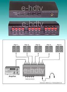 NEW 5 Speaker Selector Switch Switcher Splitter,200Watt