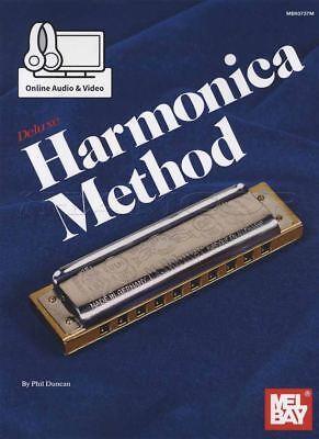 Harmonica Book Method Video - Deluxe Harmonica Method Sheet Music Book with Audio & Video Phil Duncan Mel Bay