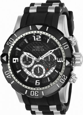 Invicta Pro Diver 23696 Men's Round Carbon Chronograph Date Analog Watch