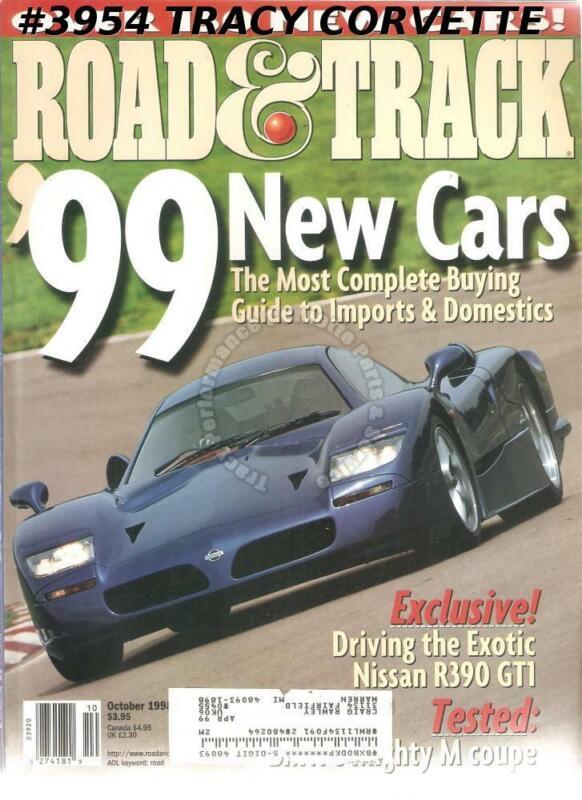 OCTOBER 1998 ROAD & TRACK 1968 FERRARI DINO 206GT FORMULA 1 RACING BMW M COUPE