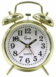 Equity 13012 Analog Keywind Loud Twin Bell Alarm Clock