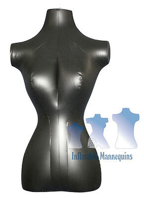 Inflatable Mannequin Female Torso Standard Size Black