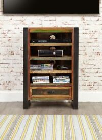 Java Rustic Industrial Entertainment Cabinet