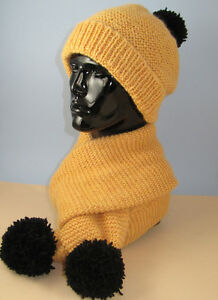 KNITTING-PATTERN-INSTRUCTIONS-EASY-CHUNKY-BIG-BOBBLE-BEANIE-HAT-SCARF