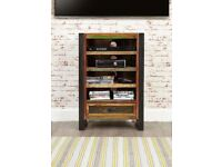 Rustic Industrial Entertainment Cabinet / Bookcase