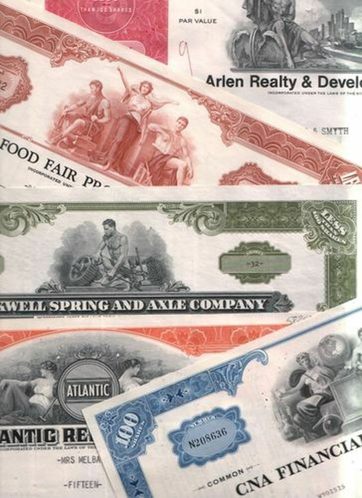 3000 VINTAGE STOCK CERTIFICATES @ $00.09!! BEST PRICE ON EARTH! YOU PICK TITLES!
