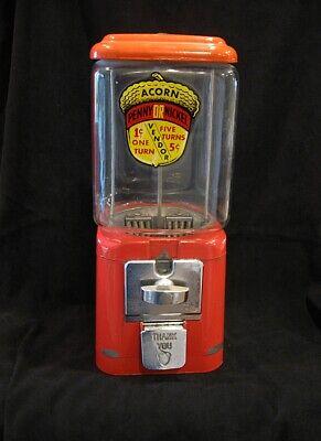 ORIGINAL VINTAGE ACORN Combo 1c and 5c  GUMBALL MACHINE Circa 1950's