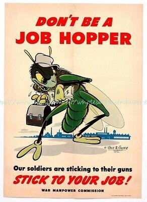 US SELLER, dont be a job hopper paper poster modern art prints Hopper Modern Poster