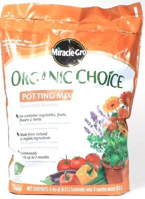 1 Miracle Gro Organic Choice Potting Mix For Container Plants 8 Dry (Miracle Gro Potting Mix)