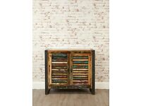 Java Rustic Industrial Two Door Small Sideboard