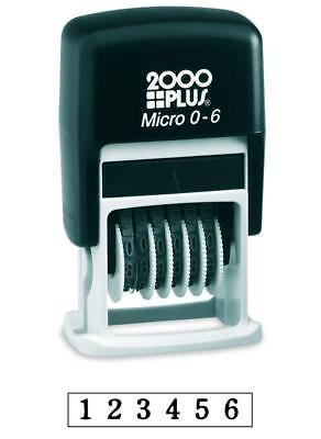 2000 Plus Number Stamp Self-inking Black
