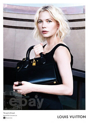 Michelle Williams 1-page clipping 2016 ad for Louis Vuitton - black bag