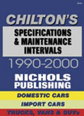 1990-2000 Automotive Specifications & Maintenance Intervals Chiltons Manual 3105