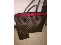 louis vuitton bag with medium purse