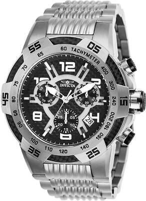 Day Date Chronograph - Invicta Speedway 25285 Men's Round Carbon Chronograph Date Analog Watch