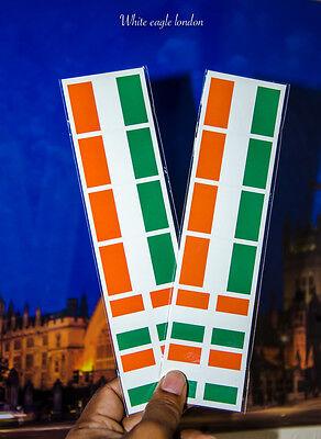 16 x Ireland Irish National flag face temporary tattoo party Rugby Football fans (Irish Flag Tattoos)